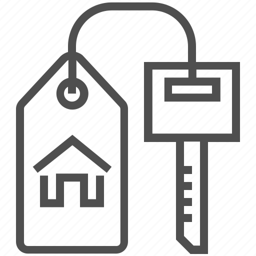 access, door key, home, house, real estate, tool icon
