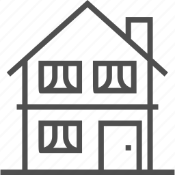 building, home, house, interface, private, real estate, web icon