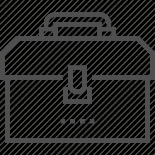 box, fix, improvement, repair, storage, tool, white icon