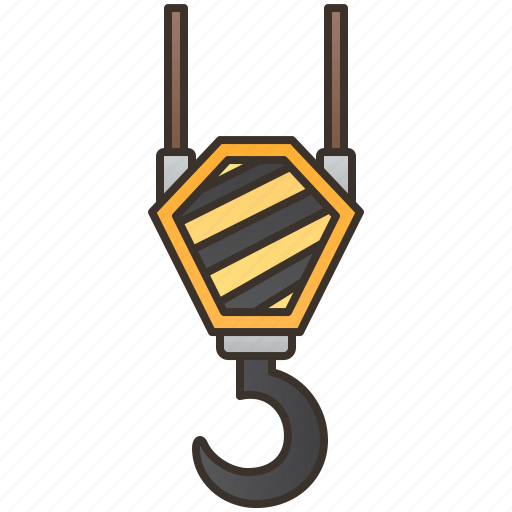 Construction, crane, heavy, hook, lifting icon - Download on Iconfinder