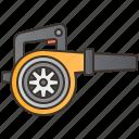 air, blower, electric, machine, technician icon