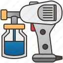 color, electric, gun, paint, spray icon