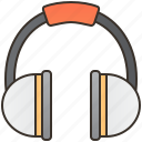 ears, hearing, muff, protection, safety icon