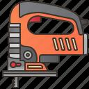 craftsman, cut, electric, jigsaw, woodwork