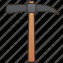 construction, digging, equipment, miner, pickaxe