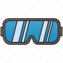 construction, glasses, goggles, protection, safety icon