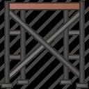architecture, builder, construction, ladder, scaffolding