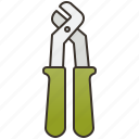 grip, pliers, pump, tools, water icon