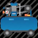 air, compressor, inflation, pressure, pump icon