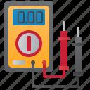 current, digital, measurement, multimeter, voltmeter