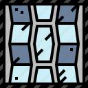 architecture, mosaic, rectangles, tiles icon
