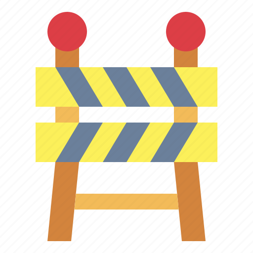 barrier, caution, construction, security icon