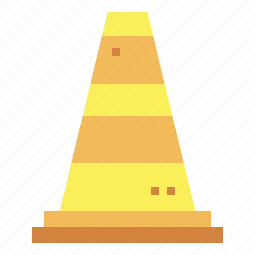 cone, construction, signaling, tools icon