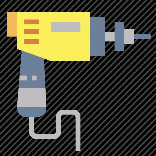 construction, drill, machine, tool icon