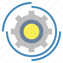 configuration, gears, settings, wheels icon