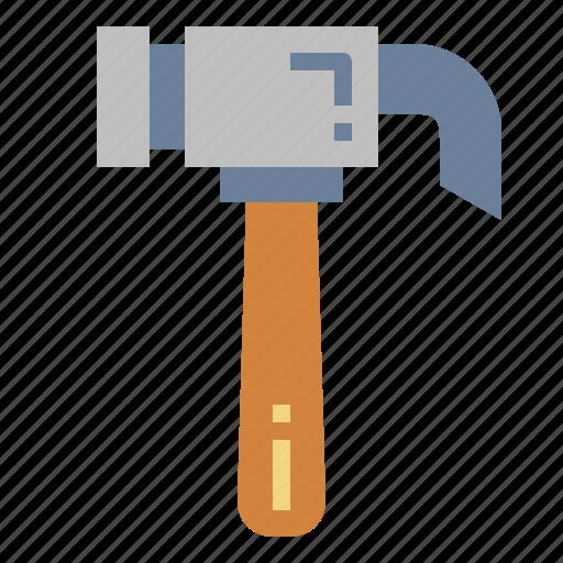 construction, hammer, improvement, tools icon