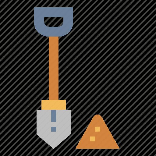 construction, farming, gardening, shovel icon