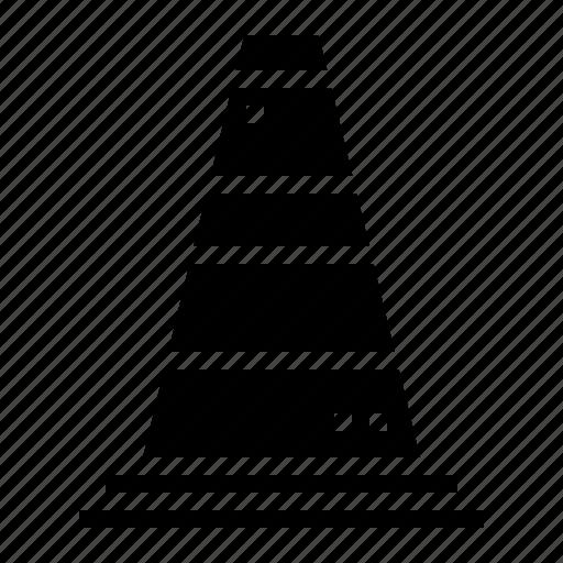 cone, construction, signaling, tools icon