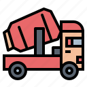 concrete, mixer, transportation, truck icon