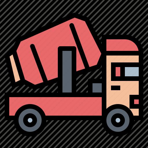 concrete, mixer, transportation, truck icon