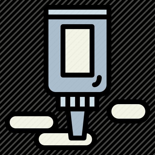 bottle, glue, liquid, tools icon
