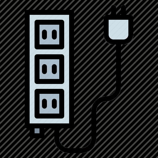 electronic, electronics, plug, socket icon