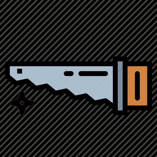 cut, cutting, handsaw, saw icon