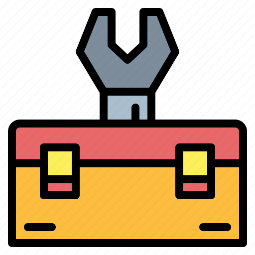 carpentry, repair, tool, toolbox icon