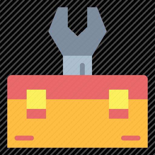carpentry, repair, tool, toolbox icon