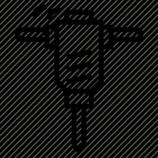 breaker, construction, home, hydraulic, improvement, repair icon