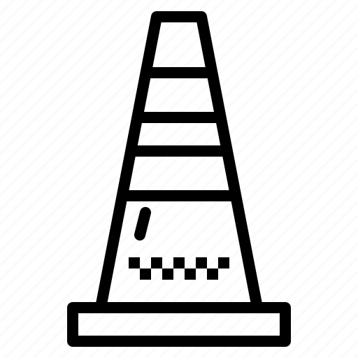 bollards, cone, construction, traffic icon