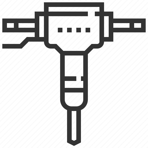 breaker, building, concrete, construction, equipment, tools icon