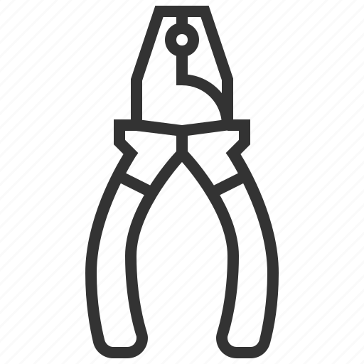 construction, equipment, pliers, repair icon