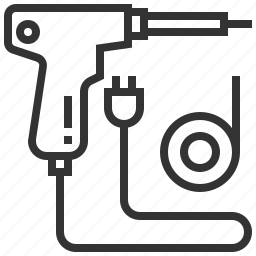 construction, electric, equipment, iron, soldering icon