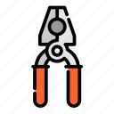 construction, equipment, pliers, repair, tool icon