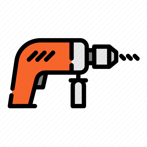 construction, drill, electric drill, equipment, repair, tool icon