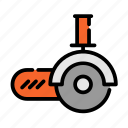 construction, equipment, repair, saw, tool icon