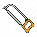 armsaw, cutter, hacksaw, instrument, saw, tool icon