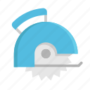 circular saw, construction, equipment, repair, saw, tool icon