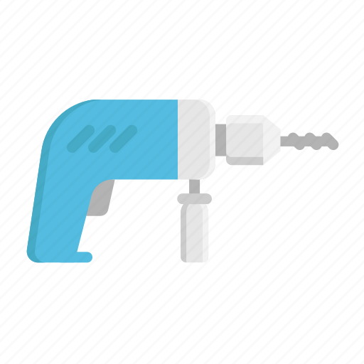 construction, drill, equipment, repair, tool icon