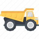 dumper, transport, truck, vehicle icon