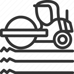 asphalt, construction, roller, vehicle icon icon