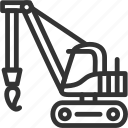 build, construction, crane, vehicle icon icon
