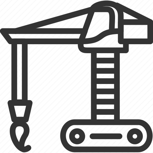 build, construction icon, crane, heavi, transportation, vehicle icon icon