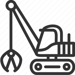 build icon, construction, excavator, heavy, transportation icon