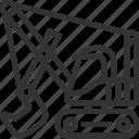 build, construction icon, excavator, machine, transportation icon, vehicle icon