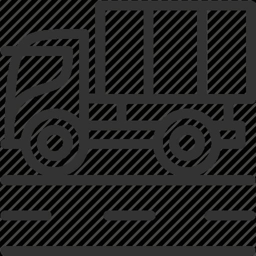 build, construction, heavy truck, truck, vehicle icon icon