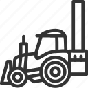 build, bulldozer, construction, excavator, heavy, truck, vehicle icon