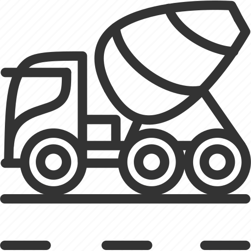 car, cement, construction, mixer, vehicle icon icon