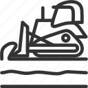 build, bulldozer, construction icon, tramsportation, vehicle icon
